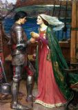 Waterhouse, John William: Tristan and Isolde with the Potion. Mythical Fine Art Print/Poster. Sizes: A4/A3/A2/A1 (00835)